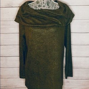 GRACE CoZy Cowl Neck Top~Olive~Size XL~$48~NWT!